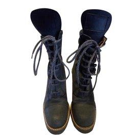 Jean Paul Gaultier-Ankle Boots-Dark grey