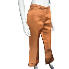 Louis Vuitton-Pantalons, leggings-Marron
