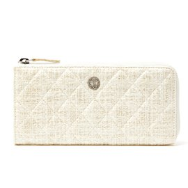 Chanel-TIMELESS TWEED LEATHER NEW-Eggshell