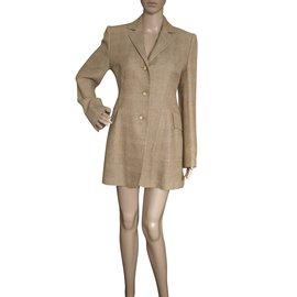 Hermès-Jackets-Beige