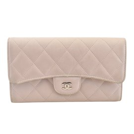 Chanel-Portefeuille Long Rose-Rose
