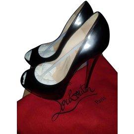 Christian Louboutin-Lady peep 150 patent calf-Black