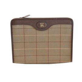 Burberry-Clutch Bag-Brown