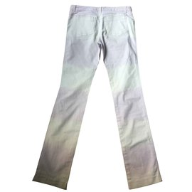Chloé-Chloe Tourterelle Boot Cut Jeans T 38-White