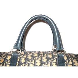 dfef05f51a31 ... Christian Dior-CHRISTIAN DIOR vintage Boston 40 oblique Dior fabric-Blue
