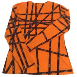 Hermès-T-shirt Hermès Bolduc-Orange