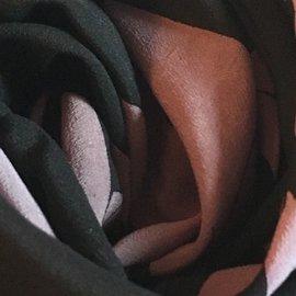 Chloé-Silk scarf 76x82 cm-Black,Lavender
