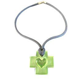 Autre Marque-Sèvres crystal pendant-Green