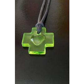 Autre Marque-Pendentif en cristal de Sèvres-Vert