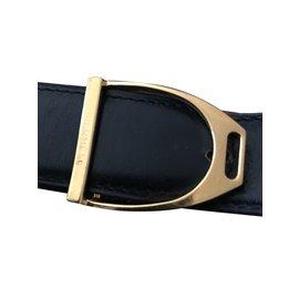 Hermès-stirrup leather-Black