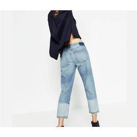 Zara-jeans-Bleu