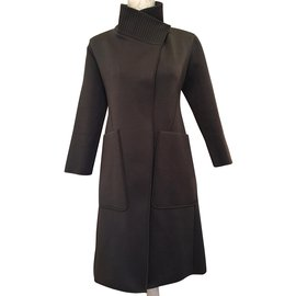 Hermès-A LINE Coat-Green