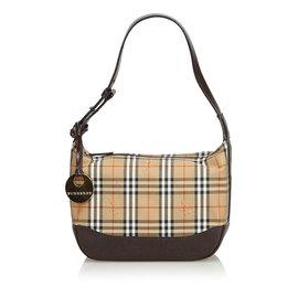 Burberry-Nova Check Jacquard Shoulder Bag-Brown,Multiple colors,Beige