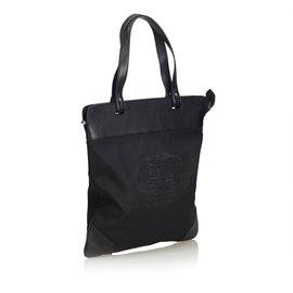 Burberry-Canvas Tote Bag-Black