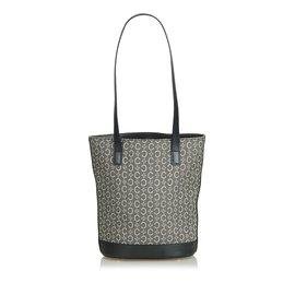 Céline-C Macadam Canvas Tote Bag-Black,Grey