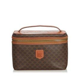 Céline-Macadam Vanity Bag-Brown,Dark brown