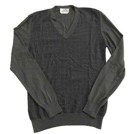 Hermès-Sweaters-Brown,Khaki