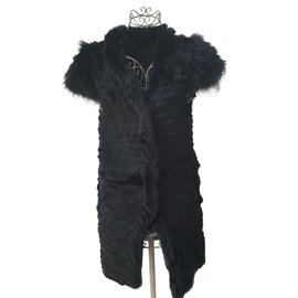 Yves Salomon-Fur vest by Meteo by Yves salomon-Grey