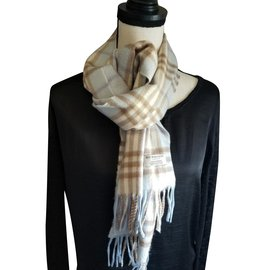 Burberry-Scarves-Light blue