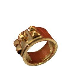 Hermès-Bague CDC Hermes en argent plaqué or-Doré ... 79cd32ee3fb