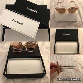 Chanel-Lunette de soleil-Rose