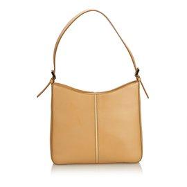 Burberry-Leather Shoulder Bag-Brown,Light brown