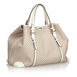 Céline-Macadam Jacquard Tote Bag-Brown,White,Beige,Cream