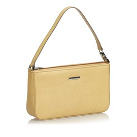 Burberry-Leather Baguette-Brown,Beige