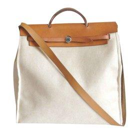 Hermès-Herbag GM-Beige ... 5575fe53055