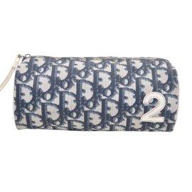 7e280eaa64b2 Christian Dior-Christian Dior Trotter Pochette Cosmétique Bleu Auth362-Bleu  ...