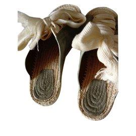 Chloé-Laced suede sandals-Blue