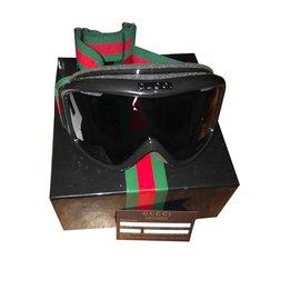 Gucci-goglgles de ski-Noir,Rouge,Vert