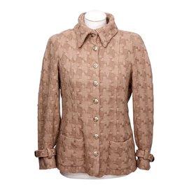 Chanel-Chanel Veste en laine-Beige