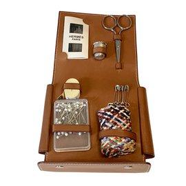 Hermès-Rare Sewing Pouch-Light brown