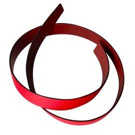 Hermès-Cuir de ceinture-Rouge
