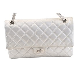 Chanel-2.55 silver-Silvery