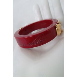 Louis Vuitton-LOCK ME BRACELET-Bordeaux