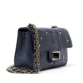 Chanel-2:55 MINI PRECIOUS SHAGREEN-Dark grey
