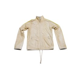 Balenciaga-Balenciaga Lambskin Leather Unisex Jacket-Beige,Yellow