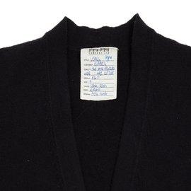 Chanel-NAVY BLACK CARDIGAN FR38/40-Navy blue