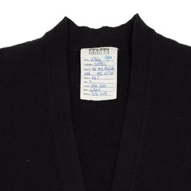 Chanel-NAVY BLACK CARDIGAN FR38/40-Bleu Marine