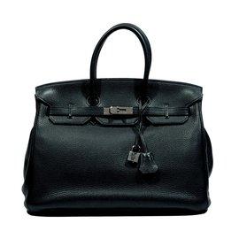 Hermès-Birkin 35 Verso-Black,Blue