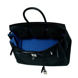 Hermès-Birkin 35 Verso-Noir,Bleu