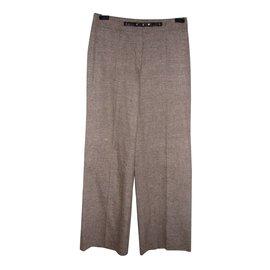 Laurèl-Laurier(Escada) pantalon droit-Marron,Rose