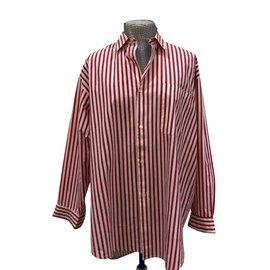 d55ef0ba25d8f0 Autre Marque-chemise rayée blanc rouge 100% coton-Blanc,Rouge ...