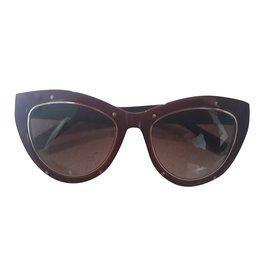 MCM-Des lunettes de soleil-Marron foncé