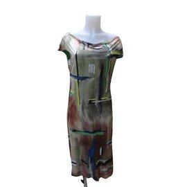 Balenciaga-Robes-Multicolore