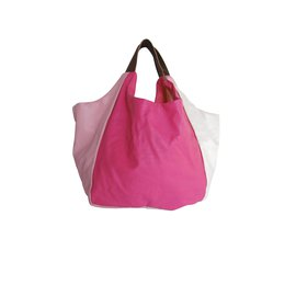 Comme Des Garcons-Comme des Garcons Oversized Patchwork Bag-Pink,White