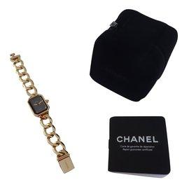 Chanel-MONTRE CHANEL PREMIERE CHAINE OR JAUNE-Doré