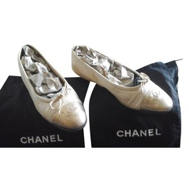 Chanel-Ballerina Chanel large classic Golden Beige-Beige,Golden